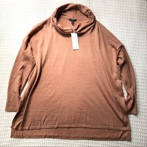 NWT Eileen Fisher Cowl Neck merino sweater 1X